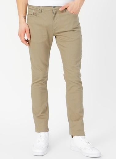 Limon Company Peter Dar Paça Çizgili Pamuklu Düz Erkek Günlük Pantolon Haki